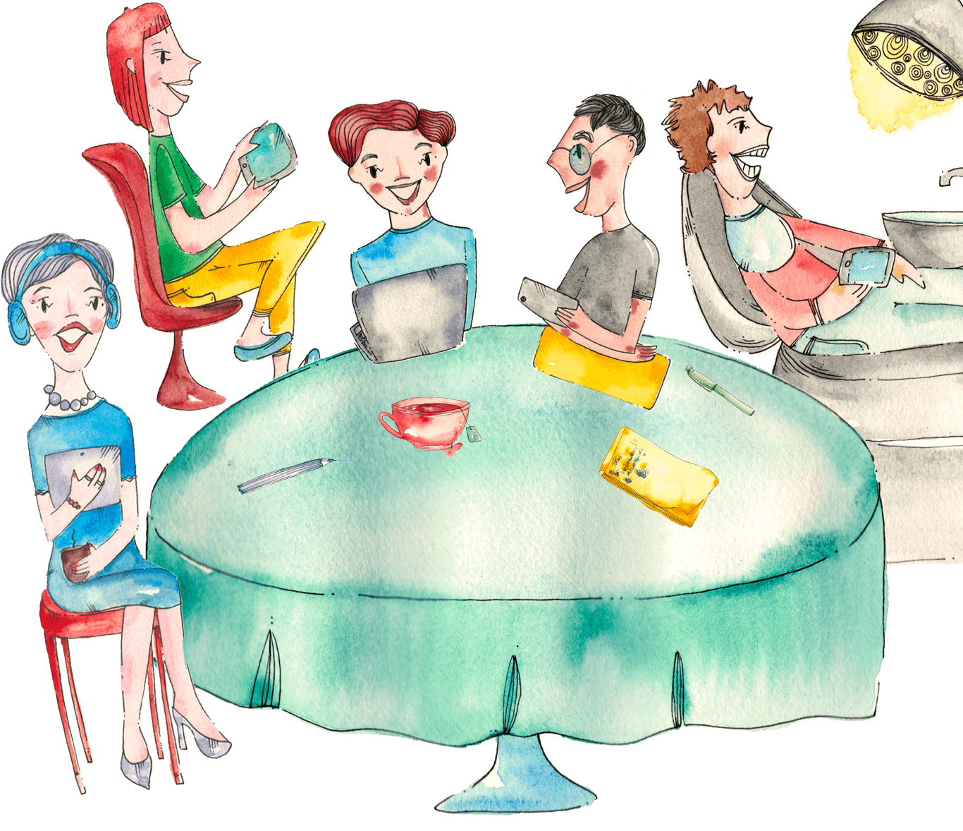 EasyLingo to zespół profesjonalnych lektorów, metodyków, programistów, grafików, ilustratorów i entuzjastów językowych